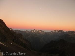 Coucher de soleil au bivouac du col Turbat