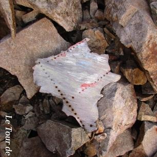 Un vestige du crash d'avions dans la face nord de l'Olan... On distingue encore la cocarde des fleurons del'armée de l'air française...