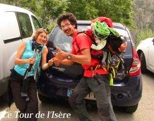 Une conductrice heureuse d'avoir participé à sa manière au Tour de l'Isère !