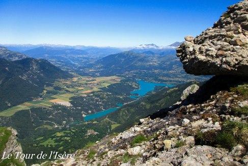 Le lac du Sautet, et le plateau de la Matheysine, très bel endroit.