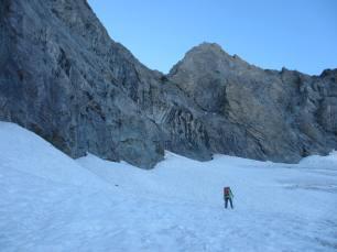 Petit glacier pour finir l'approche.