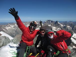 Sommet de la barre, point culminant du Tour de l'Isère ! En arrière plan, la Meige