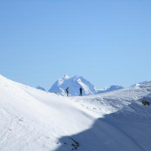 Col du Tepey, avec la Grande Casse au fond.