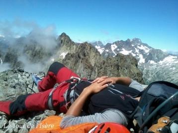 Samuel, Dans un état contemplatif de sieste au sommet de la cime d'orgières !