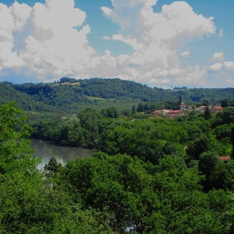 L'Isère ! le fleuve est en crue avec toute l'eau qui tombe...