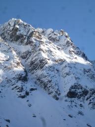 La face NW des Marmottanes et son couloir dérobé (branche de droite du Y)