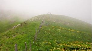La frontière, près de ce GR93, c'est le fil barbelé. Il sépare les alpages drômois et isérois.